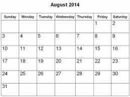 If you are looking for individual months in 201. Downloadable August 2014 Calendar Landscape