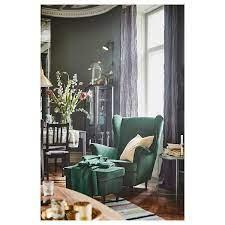 Strandmon Wing Chair Djuparp Dark Green Ikea