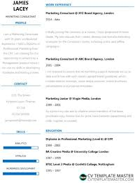 Fresh Two Column Word Cv Template Free Download Cv Template Master