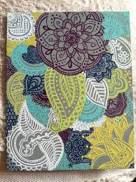 Canvas Design Ideas canvas henna design