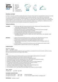 sample chef resume template .