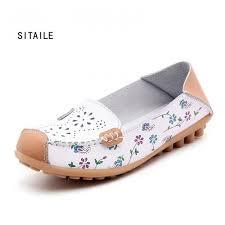 ซ อท ไหน sitaile women leather women s shoes moccasins mother loafers driving soft leisure flats female las ballet casual footwear
