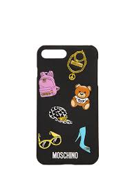 7 Plus Case Designer Moschino Printed Iphone 7 Plus Case Black Mtu1nq2 Women