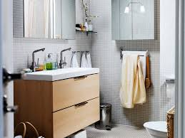bathroom ikea mirror no more bottlenecking two can get ready at the same time in this small