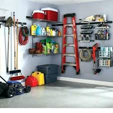 rubbermaid fasttrack system garage storage tool hanging kit home rail installation in hang the depot horizontal