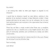 Character Letter To Judge Template Powerful Sample For Court