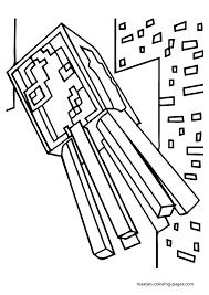Minecraft Kleurplaat Enderdragon A Minecraft Enderman Coloring Page