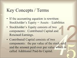key concepts terms if the accounting equation is rewritten stockholder s equity assets