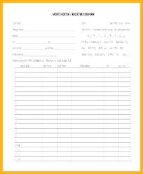 Basketball Roster E Team Free Printable Template Lytte Co