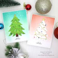 Marge Crafts Simple Christmas Cards Ideas With Ink Blending