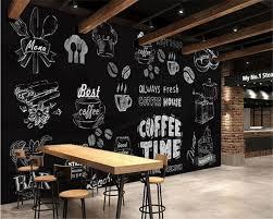 Beibehang 3d Behang Zwart En Wit Handgemaakte Koffie Dessert