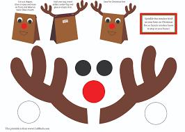best photos of reindeer paper bag template printable kids printable kids christmas craft reindeer