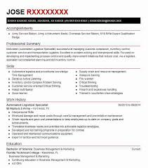 92a Resume Automated Logistical Specialist 92a Resume Example Us Army