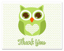 Green Baby Shower Thank You CardsOwl Baby Shower Thank You Cards