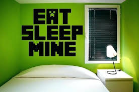 Minecraft Themed Room Eat Sleep Mine Room Giant Wall Decal Minecraft Themed Bedroom  Wallpaper
