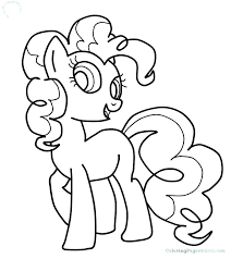 pinkie pie coloring page my little pony pages baby pinky equestria