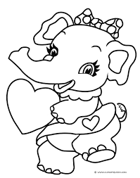 Small Picture Funny Elephant Coloring Pages