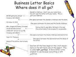 Business Letter Basics Where does it all go