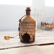 drink me bottle alice in wonderland decor mad tea party decoration glass art drink me bottle alice in wonderland decor mad tea party decoration