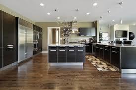 Creativity Kitchens With Black Cabinets And Dark Wood Floors Kitchen Look Very Sleek Stunning Models Design