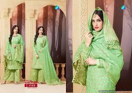 Buy Salwar Suits Pure Banarasi Salwar Kameez Green Color