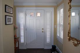 front door sidelight blindsPlantation Shutters  Traditional  Entry  Boston  by Shades IN