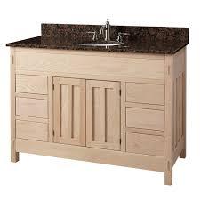 Bathroom Vanity Depth 48 Unfinished Narrow Depth Mission Hardwood Vanity For Undermount