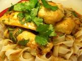 blue eye cod with curry sauce