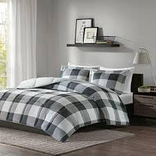 grey plaid comforter. Interesting Comforter Black Grey Plaid Comforter Full Queen Set Gray Cabin Themed Bedding  Lumberjack Pattern Squares Lodge Rustic With D