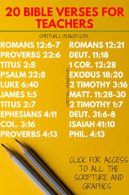 20 Bible Verses For Teachers With Graphics Spiritually Hungry