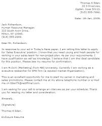 Cover Letter For Human Resources Intern Position Sample