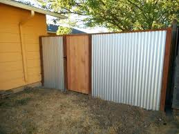 galvanized corrugated metal fence