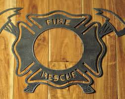 firefighter metal wall decor maltese cross on maltese cross firefighter metal wall art with firefighter axe sign etsy