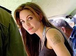 анджелина джоли раскрыла секрет своей татуировки