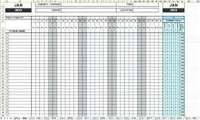 Key Features Of The Attendance Sheets Template Monthly Employee