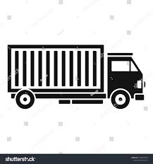 Cargo Web Design Cargo Truck Icon Simple Illustration Cargo Stock Image