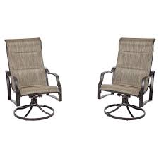comfortable patio chairs aluminum chair: statesville pewter swivel aluminum sling outdoor lounge chair  pack