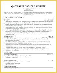 Tester Sample Resume Qa Quality Assurance Examples Socialum Co