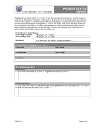 Project Status Reporting Project Status Report Template In Word And Pdf Formats