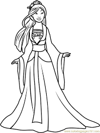 Small Picture Princess Mulan Coloring Page Free Disney Princesses Coloring