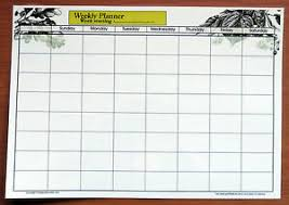 Details About A3 Full Size Laminate Weekly Planner Dry Wipe Wall Chart With 2019 2020 Calendar