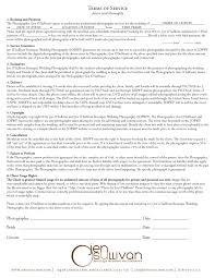 Wedding Photography Contract Form Sample Wedding Photography Contracts