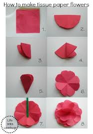 How To Make Flower Out Of Tissue Paper Tissue Paper Flowers Life With Lovebugs