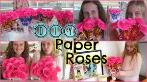 Diy Easy Paper Roses Mothers Day Birthday Gift Or Valentines