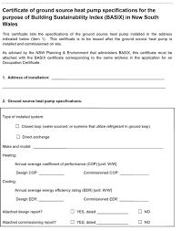 Performance Certificate Sample Sample Verification Certificate Basix Building