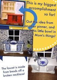 homemade barbie furniture ideas. Kitchen Sink, Dollhouse Miniatures! DIY Homemade Barbie Furniture Ideas V