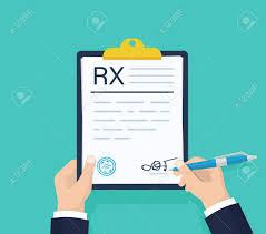 Rx Pad Design Man Hold Rx Prescription Form Medical Prescription Pad Clipboard
