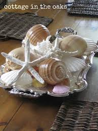 Decorating With Silver Trays Decorating with Seashells Decorating Cupboard and Shell 85