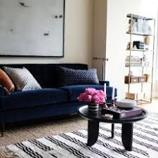 Navy blue furniture living room Wing Back Chair Condo Living Room Features Navy Velvet Sofa Photos Hgtv Photos Hgtv