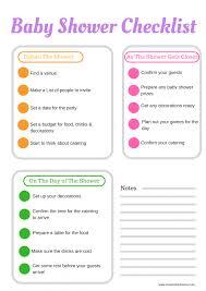 Baby Shower Registry Checklist Pdf Planning Template